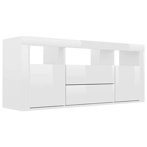 mobile tv bianco lucido vidaXL Mobile Porta TV Bianco Lucido 120x30x50 cm in Truciolato