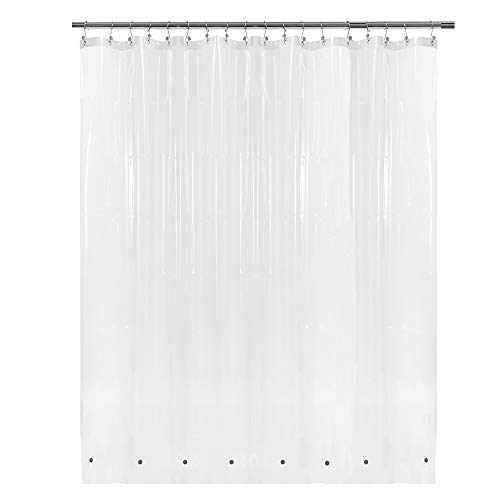 """Extra Wide Shower Curtain Liner 108"""" x 72"""" with 8 Magnets - Waterproof PEVA Shower Liner for Bathroom, PVC Free, Metal Grommets - Clear, 108X72"""