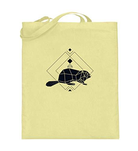 Sacchetto in cotone felpato Polygon Geometrie | roditori della foresta Low Poly, (Giallo (giallo chiaro).), 38cm-42cm