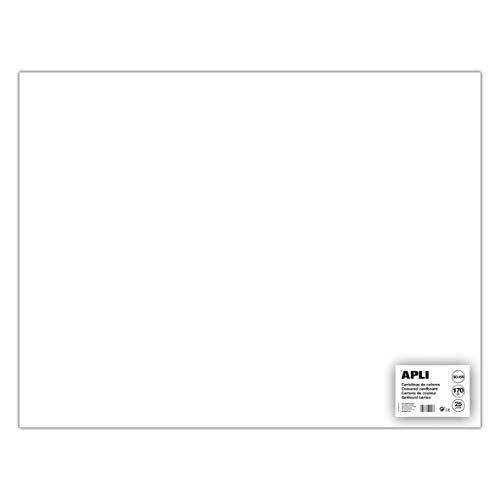 Apli 014254 Lot de 25 Feuilles de carton 500 x 650 mm Blanc