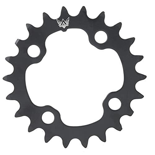 Kuuleyn Plato único para Bicicleta, Plato Redondo de Acero al Carbono para Bicicleta 22T para BCD 104 mm Bicicleta de 9 velocidades Bicicleta eléctrica Bicicleta de montaña Bicicleta de montaña