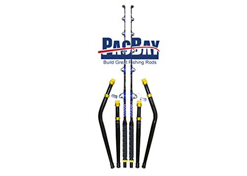 Xcaliber Marine Pair of PRO Tournament Series 6' 30-50 lb Saltwater TROLLING RODS Includes Bent and Straight Butt