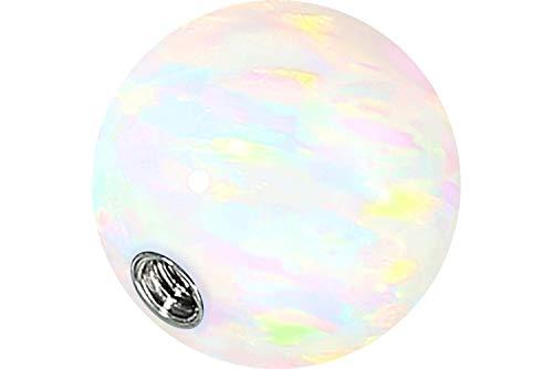 PIERCINGLINE Universelle Schraubkugel mit Innengewinde | SYNTHETISCHER Opal | Piercing Aufsätze Kugel Ersatz | Farb & Größenauswahl