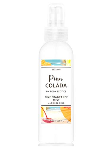 Pina Colada Perfume Fine Fragrance Mist by Body Exotics 4 Fl Oz 118 Ml ~ a Luscious Blend of Delectably Ripe Pineapple, Creamy Coconut, Lime and a Splash of Rum Essence