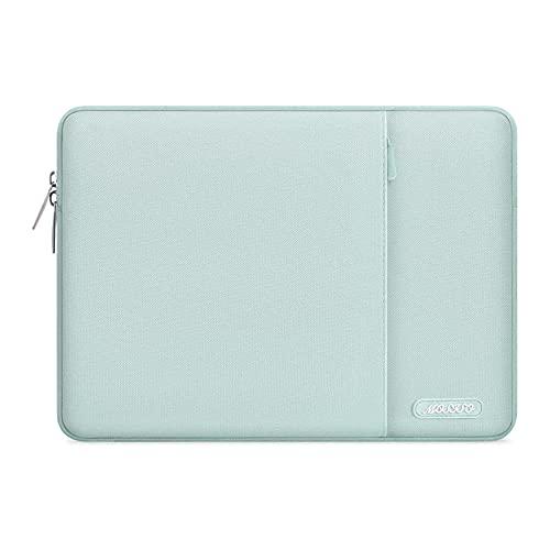 MOSISO Laptop Sleeve Hülle Kompatibel mit MacBook Air 11, 11.6-12.3 inch Acer Chromebook R11/HP Stream/Samsung/ASUS/Surface Pro X/7/6/5/4/3, Polyester Vertikale Stil Laptoptasche,Mint Grün