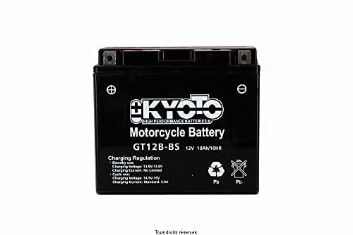 Batería moto Kyoto GT12B-BS (YT12B-BS) - Sin mantenimiento - 12 V 10 Ah - Dimensiones: 150 x 70 x 131 mm compatible con DUCATI Sport 750 2002