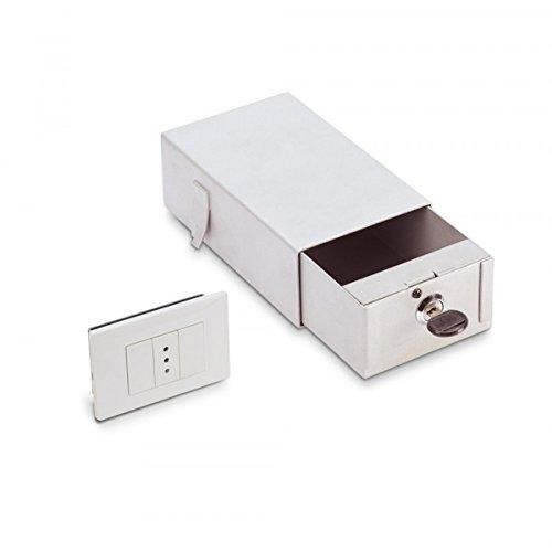Cassaforte Invisibile Monocassetto A Muro Finta Presa Di Corrente Elettrica A Chiave Technomax Sm/1