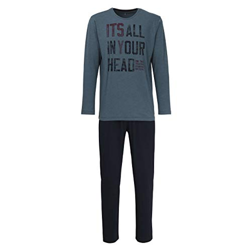 TOM TAILOR Herren Pyjama grün Melange 1er Pack 50