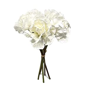 Floral Kingdom Real Touch Artificial Carnation Flowers for Floral Arrangements, Bouquets, Home Decor (Pack of 5)