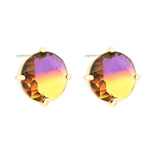 TEMPUS FUGIT. Pendientes Multilight, chapados en Oro con cristales de colores brillantes. Incluye una caja para regalo