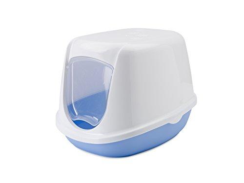 "Katzentoilette ""DUCHESSE"" sweet blau / weiß 44,5 x 35,5 x 32 cm"