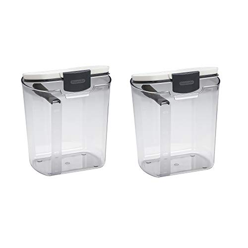 Progressive International Plastic ProKeeper Flour Container, 1 Piece (2 Pack)