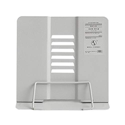 Sayletre Metallo Reading Book Holder Bookend Supporto Morandi Regolabile Documento Shelf Tablet Music Score Ricetta Stand