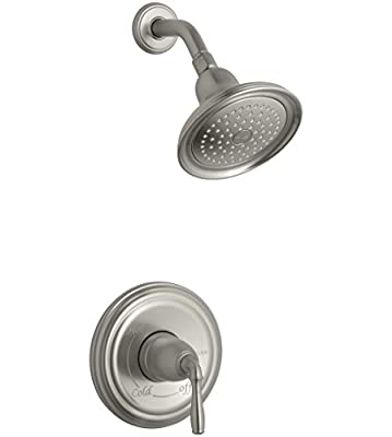 KOHLER K-TS396-4-BN Devonshire(R) Rite-Temp(R) shower valve trim with lever handle and 2.5 gpm showerhead, 1, Vibrant Brushed Nickel