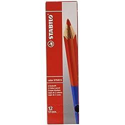 Stabilo Bicolore matita formato standard rosso//blu conf. 12pz confezione da 10 979//815 4,2 mm x 10 m Stabilo /&  Basics Correttore a nastro