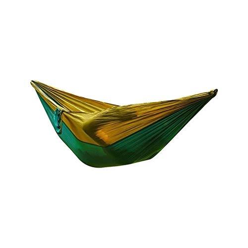 XINGJIJIJIA Très 400KG Hanging Portable de Camping en Plein air hamac Hanging Tente Nylon Parachute Tissu 210T lit for Balancelle Choix (Color : Black Blue)