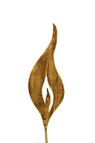 Gartenzaubereien Flamme zum Stecken 23cm goldfarben Rostflamme