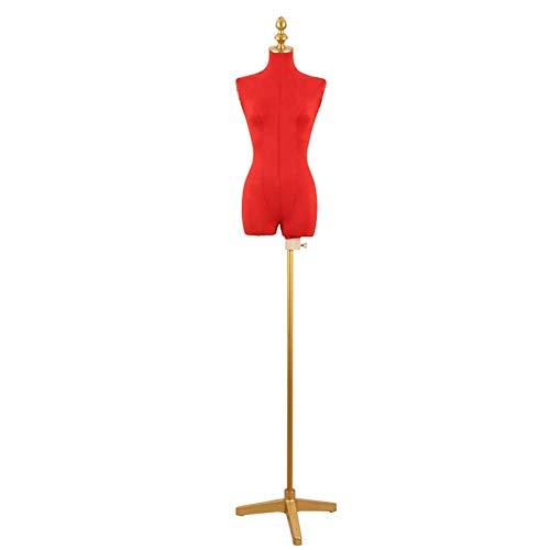 HXCD Torso de Cuerpo de maniquí de Forma Femenina (con trípode de Metal) para Vestido de Novia/Cheongsam, Altura Ajustable (Color: Rojo)