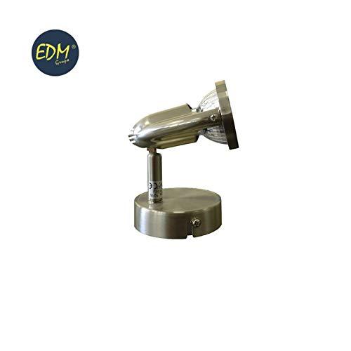 Edm 32021 Spot halogène 1, modèle Planet, Gu-10, éléments or vieilli, doré