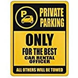 HSSS - Placa Decorativa de Metal para Pared con Texto en inglés Private Parking Only for The Best Car Rental Office