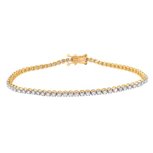 Natural Diamond Tennis Bracelet