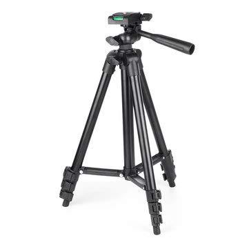 ExcLent Protable Justierbare Telefon-Kamera-Selbststock-Einbeinstativ-Stativ-Flexibler Standplatz-Einfassungs-Halter-Klipp Mit Tasche - Schwarz
