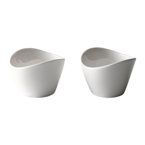 IKEA SKYN -Servierschale weiß / 2 Stück - 7 cm
