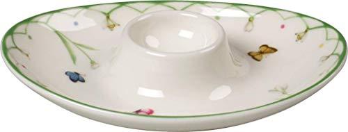 Villeroy & Boch Colourful Spring Eierbecher, Premium Porzellan, Weiß/Bunt
