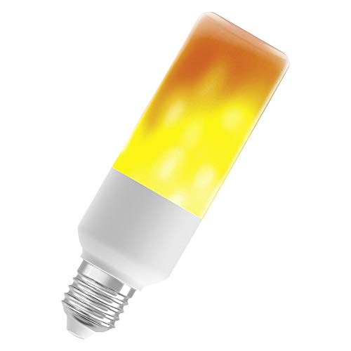 OSRAM LED STAR FLAME STICK Flammenlampe LED-Lampe, Sockel: E27, 0,50W, Warm Comfort Light 1500 K [Energieeffizienzklasse A+]