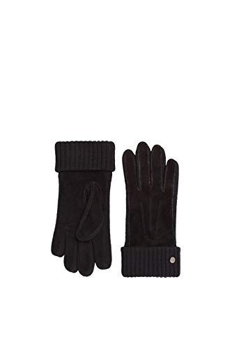 ESPRIT Accessoires Damen 119EA1R002 Handschuhe, Schwarz (Black 001), Large (Herstellergröße: L)