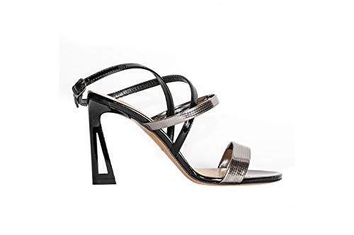STEPHEN GOOD Sandale Lack 6011-E19, - Nero C D Fucile - Größe: 37 EU