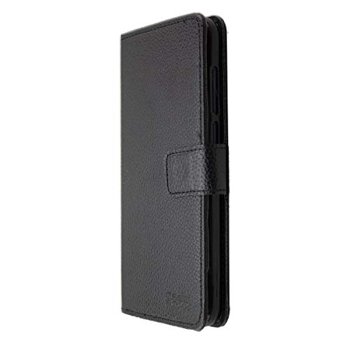 caseroxx Handy Hülle Tasche kompatibel mit Archos Access 57 Bookstyle-Hülle Wallet Hülle in schwarz