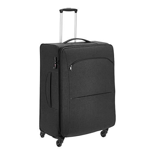 AmazonBasics Urban Softside Spinner Luggage, 73.7 cm, Black