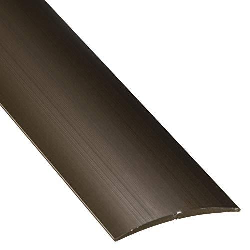 Gedotec Übergangsprofil Laminat - Vinyl Übergangs-Schiene selbstklebend Bodenprofil gewölbt | Türschwelle zum Kleben | Alu Bronze eloxiert | Profil 40 x 2000 mm | 1 Stück - Ausgleichsprofil Aluminium