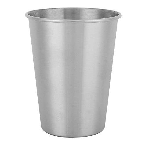Vasos de acero inoxidable de 350 ml, té de picnic, bebida de agua, jugo, taza de cerveza, vasos de metal para niños y adultos
