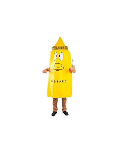 DISBACANAL Senf Dosen Kostüm für Erwachsener - -, Erwachsener