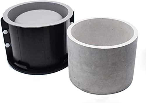 GZWY Macetas de silicona para hormigón, moldes de plástico y silicona, doble capa, artesanales, forma de maceta jugosa de resina cilíndrica, para decoración de la oficina y el hogar