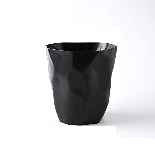 Shatter-resistent Famiglia senza copertura in pieghe rotonda rotonda tinta crostro cestino della spazzatura della carta del cestino della carta del cestino della carta del cestino di plastica Pieghett