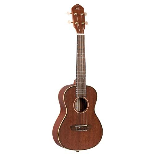 Ortega RU11 - Guitarra acústica con cuerdas metálicas (caoba maciza, 4 cuerdas), color natural