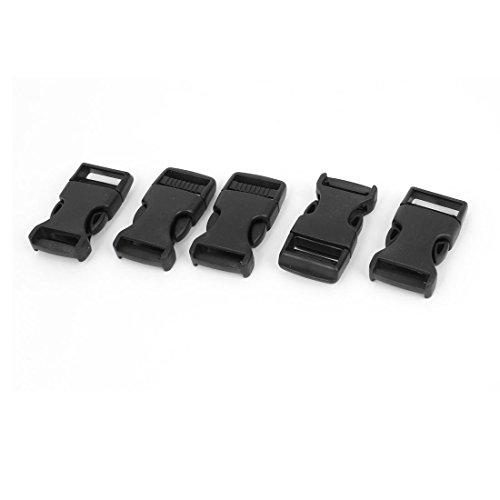 uxcell クイックリリースバックル プラスチック製 サイド クラスプ 20mm 5個 ブラック 28g