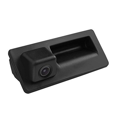 Wasserdicht Nachtsicht Rückfahrkamera Griffleiste Einparkhilfe Hilfslinien, Rückfahrkamera mit Heckklappe Taster für Audi A3 RS3 S3 2017 Facelift MQB 8V. A4 A4L S4 RS4 B9 8W 2015 2016 2017
