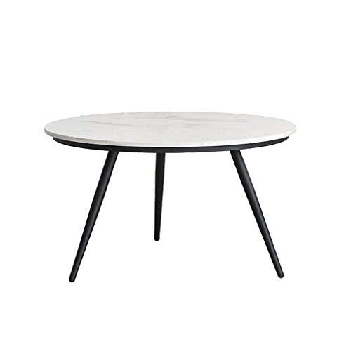 LICHUAN Table basse en marbre - Petite table basse ronde en fer - Table d'appoint moderne décorative pour la maison, le bureau, le salon