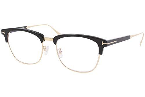 Eyeglasses Tom Ford FT 5590 -F-B 001 Shiny Black, Rose Gold/Blue Block Lenses