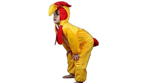 Niños Disfraces de Animales Niños Niñas Unisex Disfraces Cosplay Niños Onesie (Gallo, M (para niños de 90 a 105 cm de Altura))