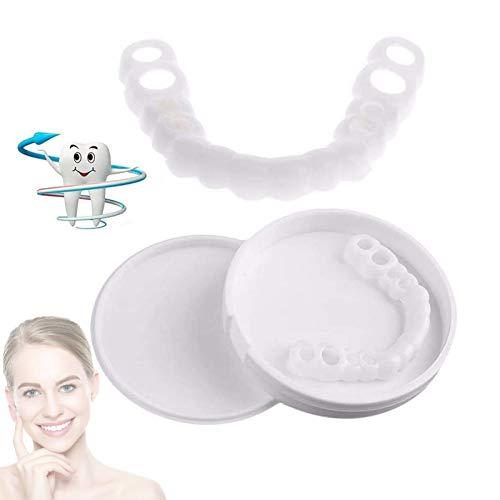 Zahnersatz Provisorischer 2 Paare Sofortiges Lächeln Comfort Fit Kosmetische Zähne, Flex Zähne Veneers Eine Grösse passt allen für Männer und Frauen