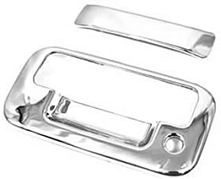 PAKCEEINC Chrome ABS Trunk Door Handle Tail Gate Trim Cover Bezels for 2004-2014 Ford F-150, 2008-2015 Ford F250 / F350 / F450 /F550 SuperDuty