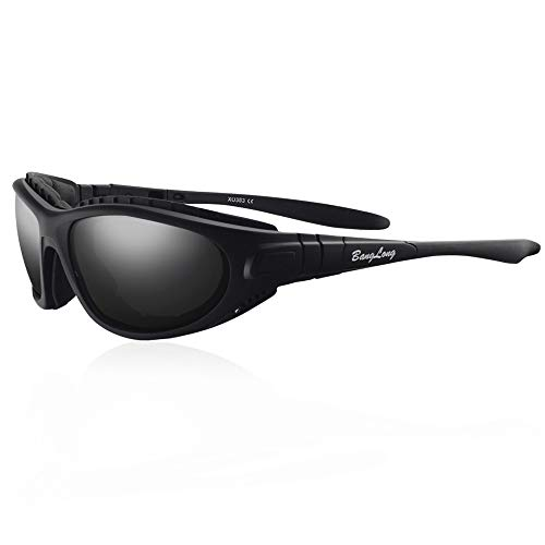 BangLong Sport Sonnenbrille Polarisiert Sonnenbrille Fahrradbrille Sportbrille Antikollision Antibeschlag für Herren und Damen Outdooraktivitäten wie Radfahren Autofahren Laufen Angeln UV400
