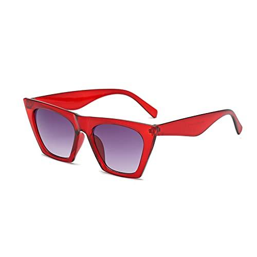 Gafas de sol para mujer, modernas, clásicas, retro, polarizadas, personalizadas, rectangulares, modernas, con degradado degradado, con protección UV