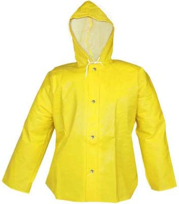 Tingley J31107 Webdri Storm Fly Front Hooded Jacket, Yellow, 2XL