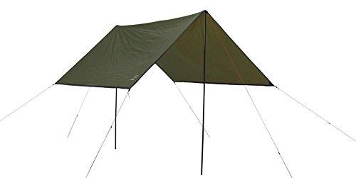 GRAND CANYON Shelter 400 - Tarp / pare-soleil avec tiges de maintien, protection UV50, 400 x 400 cm, olive, 302307